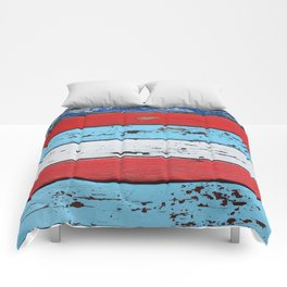 Multicolored Wooden Planks Comforters