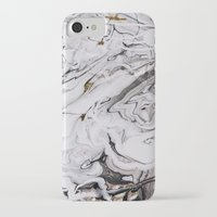 iPhone Cases featuring Chic Marble by Sara Eshak