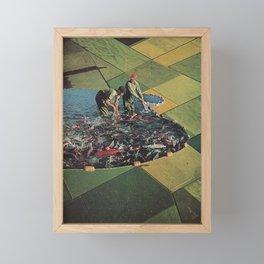 Salmon Farm Framed Mini Art Print