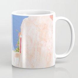 Santorini Greece Mamma Mia pink street travel photography Coffee Mug