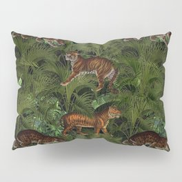 Vintage & Shabby Chic - Tigers in Palm Jungle Pillow Sham