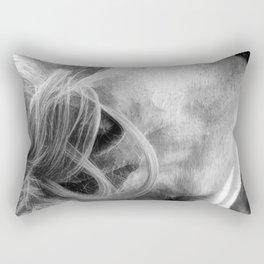 Horse Grooming Design Rectangular Pillow