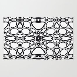 fancy grid Rug