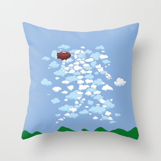 QB Formation Throw Pillow