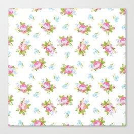Soft Floral Print Canvas Print