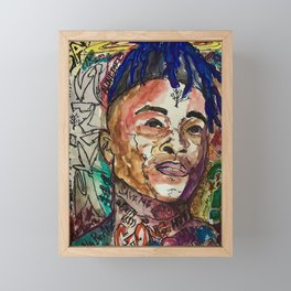X,rapper,rip,hiphop,music icon,lyrics,colourful poster,dope,wall art,cool,shirt Framed Mini Art Print
