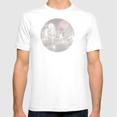 Dots//Nine White Mens Fitted Tee MEDIUM