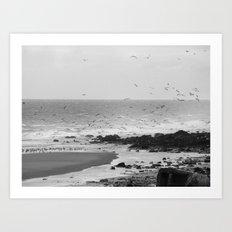 Beach, Calais, France. Art Print
