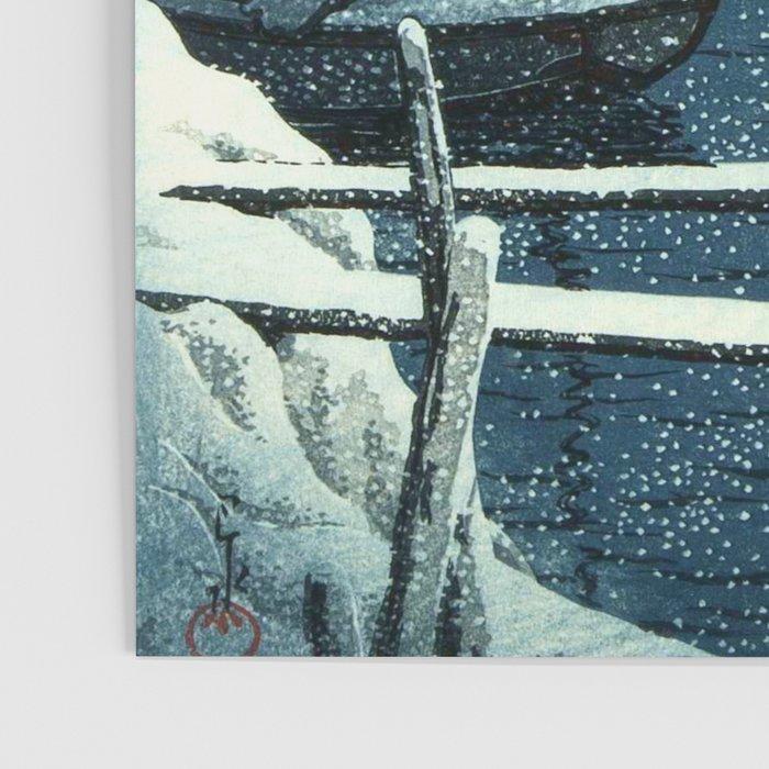 SNOW LAKE MUKAIJIMA KAWASE HASUI JAPAN Painting Canvas art Prints