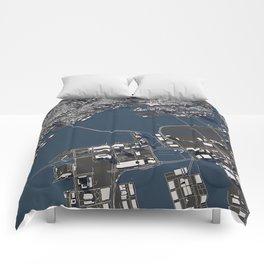 Tokyo II city map Comforters