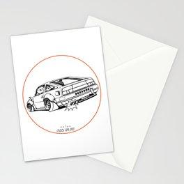 Crazy Car Art 0206 Stationery Cards