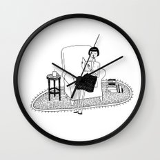 I'll get by as long as I have books Wall Clock