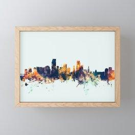 Miami Florida Skyline Framed Mini Art Print