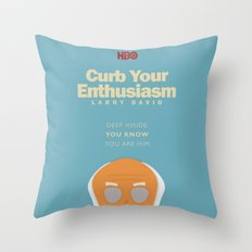 Curb Your Enthusiasm - Hbo tv Show with Larry David - Poster Throw Pillow