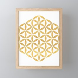 FLOWER OF LIFE sacred geometry Framed Mini Art Print