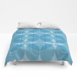 blue circulos Comforters