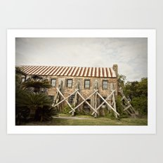 in repair::charleston Art Print