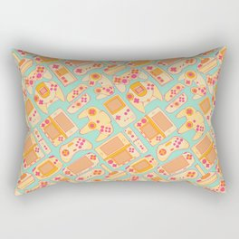Video Game Controllers in Retro Colors Rectangular Pillow