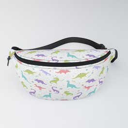 Space Dinosaurs on White Fanny Pack