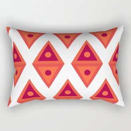 red triangle Rectangular Pillow