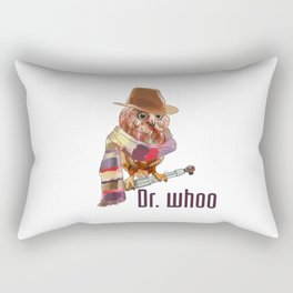 Dr. Who Owl Rectangular Pillow