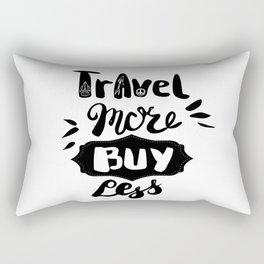Travel more! Rectangular Pillow