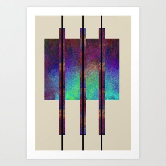 Earth Song abstract art by Ann Powell Art Print