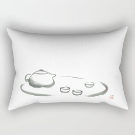 Relaxed by Chinese tea and Zen Rectangular Pillow