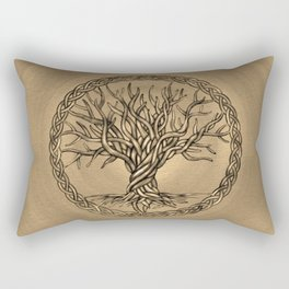 Tree of life -Yggdrasil -Sepia Canvas Rectangular Pillow