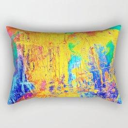 Imaginäre Landschaft - Ölgemälde auf Leinwand Rectangular Pillow