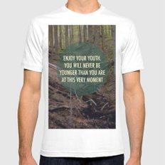 Enjoy Your Youth MEDIUM White Mens Fitted Tee