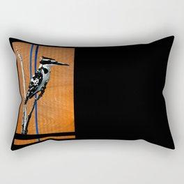 Ugandan Pied King Fisher Rectangular Pillow