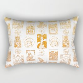 Beautiful Golden Tarot Card Print Rectangular Pillow
