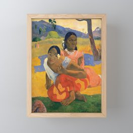 Affordable Art $300,000,000 When Will You Marry by Paul Gauguin Framed Mini Art Print