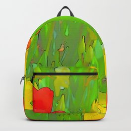 Etched Tulips 5 Backpack