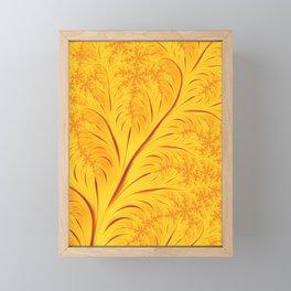 Fall Leaves Abstract Autumn Yellow Orange Gold Leaf Pattern Framed Mini Art Print