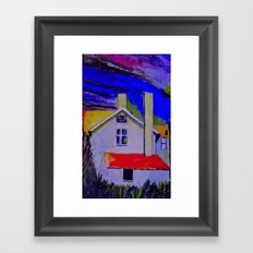 House In The Woods Framed Art Print