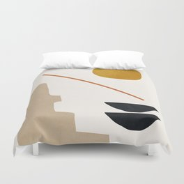 abstract minimal 6 Duvet Cover