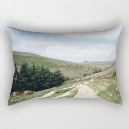 A trail in the peak district Rectangular Pillow