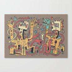 Le duel des Thaumaturges (color version) Canvas Print