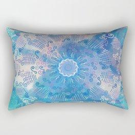 Tropical Mandala (blue) Rectangular Pillow