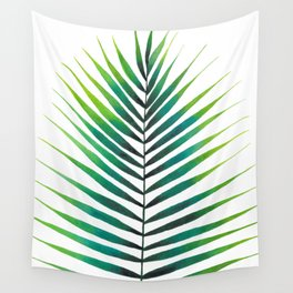 Tropical Palm Leaf #1 | Watercolor Painting Wall Tapestry