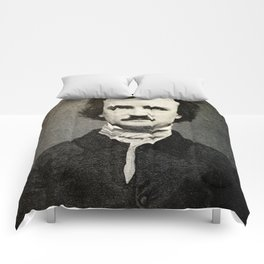 Edgar Allan Poe Engraving Comforters
