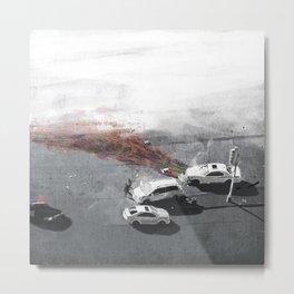 Crashlines Metal Print