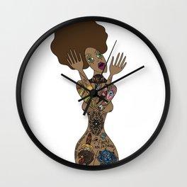 ink my hole body Wall Clock