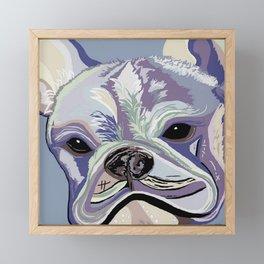 French Bulldog Denim Colors Framed Mini Art Print