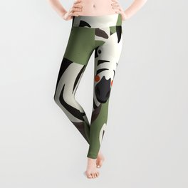 Zebra, Animal Portrait Leggings