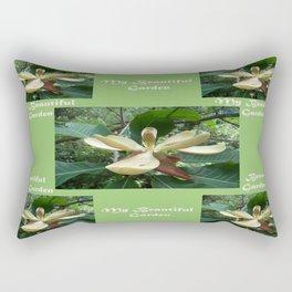 Garden _White Magnolia in May Rectangular Pillow