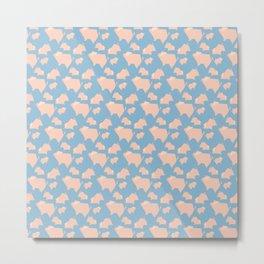 Paper Pigs (Patterns Please) Metal Print