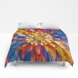 Color Flow Abstract Comforters